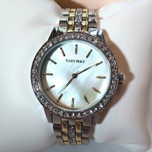 ELLEN TRACY Crystal Embellished Watch